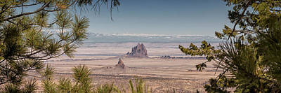 Photograph - Shiprock From Arizona Panorama - New Mexico by Brian Harig