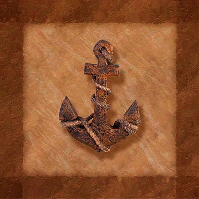 Ship's Anchor Print by Tom Mc Nemar
