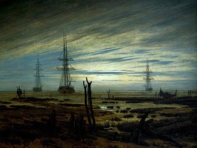 Ships At Anchor Art Print