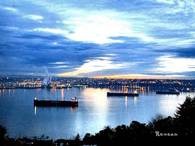 Photograph - Ships At Port Of Tacoma W A by Sadie Reneau