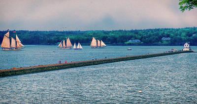 Photograph - Ships By The Samoset by Tom Singleton