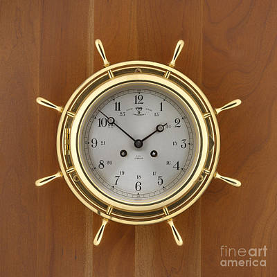Time Photograph - Ships Clock by Jerry McElroy