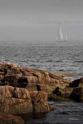 Ships Harbor In Maine Print by James Dricker