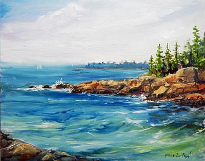 Maine Seacoast Painting - Ships Harbor by Jessica Fligg