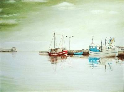 Painting - Ships In A Bay by Ramona Boehme