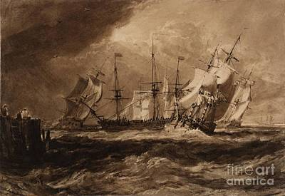 Ships In A Breeze Art Print by MotionAge Designs