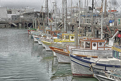 Photograph - Ships In The Harbor by Marie Leslie