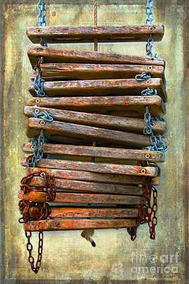 Photograph - Ship's Ladder by Nina Silver