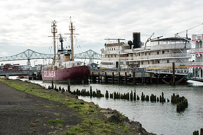 Photograph - Ships On The Astoria Waterfront by Tom Cochran