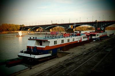 Photograph - Ships On Vistula 02 by Dora Hathazi Mendes