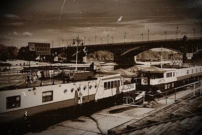 Photograph - Ships On Vistula 03 by Dora Hathazi Mendes
