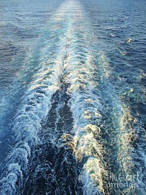Photograph - Ships Wake by Randall Weidner