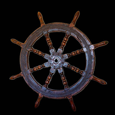 Photograph - Ship's Wheel by Miroslava Jurcik
