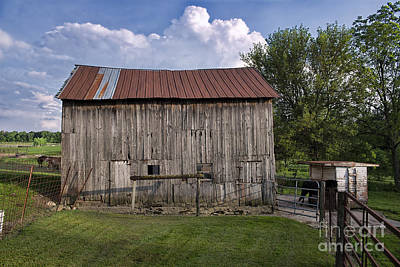 Photograph - Shipshewana Barn by David Arment