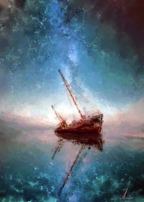 Blackbeard Painting - Shipwreck by Armin Sabanovic