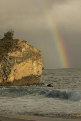 Shipwreck Beach Rainbow Art Print by Bonita Hensley