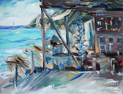 Painting - Shipwreck Bottles by Linda Olsen