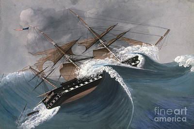 Photograph - Shipwreck by Granger