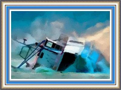 Abstract Royalty-Free and Rights-Managed Images - Shipwreck H B With Decorative Ornate Printed Frame. by Gert J Rheeders