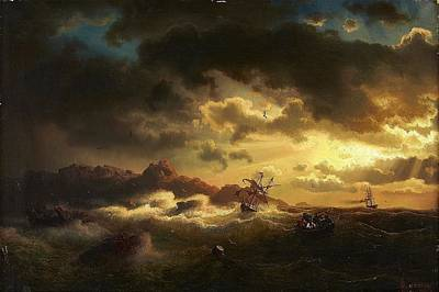 Shipwreck Painting - Shipwreck by Marcus Larson