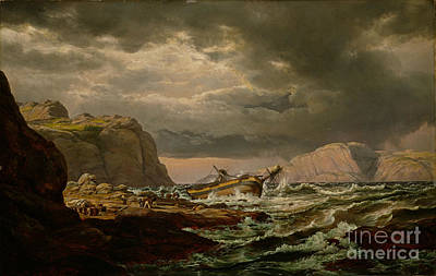 Painting - Shipwreck On The Coast Of Norway by Celestial Images