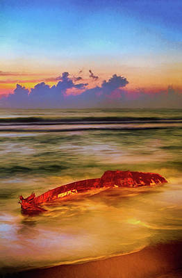 Painting - Shipwreck On The Outer Banks The End Ap by Dan Carmichael