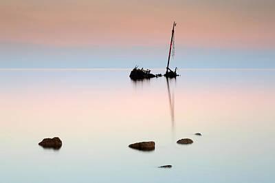 Photograph - Shipwreck Sunrise by Grant Glendinning