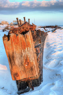 Photograph - Shipwrecked In Fort Morgan by JC Findley