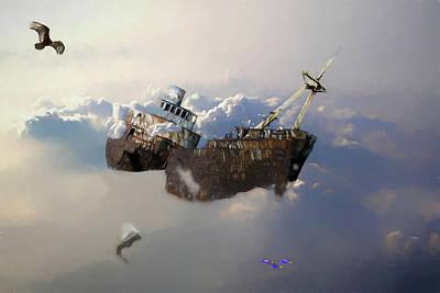 Digital Art - Shipwrecked by John Haldane