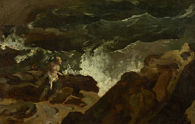 Painting - Shipwrecked On A Beach - The Tempest by Theodore Gericault
