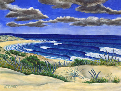 Sea Of Cortez Painting - Shipwrecks Baja by Karin Griffiths