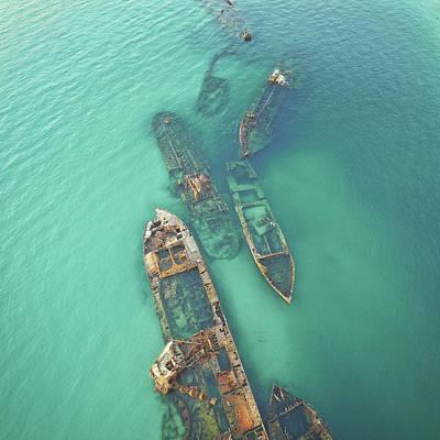 Photograph - Shipwrecks by Keiran Lusk