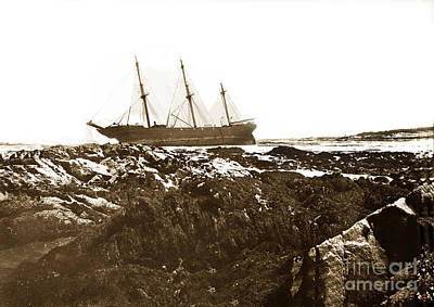 Photograph - Shipwrecks Of The Roderick Dhu April 26, 1909 by California Views Mr Pat Hathaway Archives