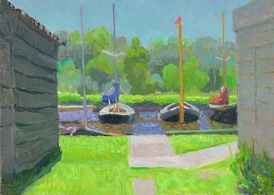 Shipyard After The Rain  Art Print by Ben Rikken