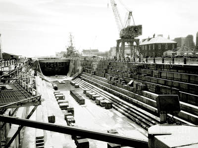 Photograph - Shipyard by Raymond Earley