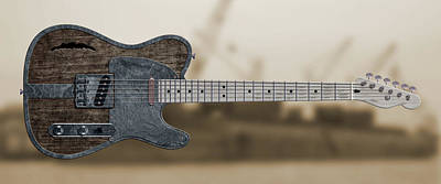 Digital Art - Shipyard Telecaster by WB Johnston