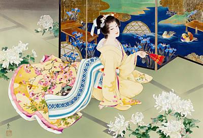 Kimonos Photograph - Shiragiku by Haruyo Morita