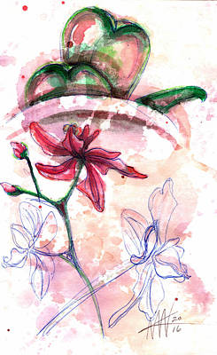 Painting - Shiraz Orchid II by Ashley Kujan