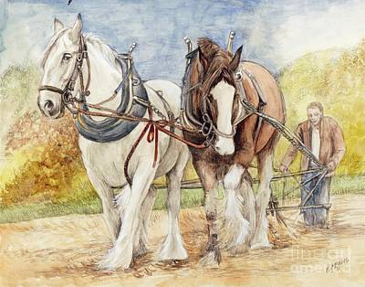 Painting - Shire Horses by Morgan Fitzsimons