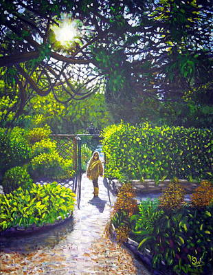 Painting - Shirley At Chalice Well by Shirley Wellstead