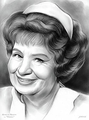 Drawing - Shirley Booth by Greg Joens