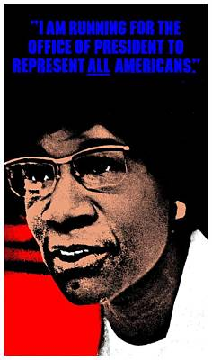 Shirley Chisholm 2 Art Print by Otis Porritt