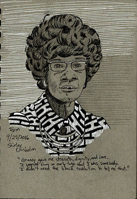 Painting - Shirley Chisholm by Frank Middleton
