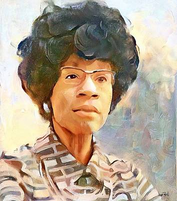 Painting - Shirley Chisholm by Wayne Pascall