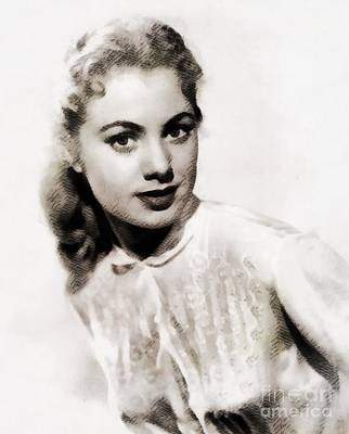 Shirley Painting - Shirley Jones, Vintage Actress by John Springfield