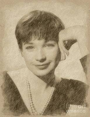 Singer Drawing - Shirley Maclaine, Actress by Frank Falcon
