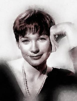 Television Painting - Shirley Maclaine By John Springfield by John Springfield