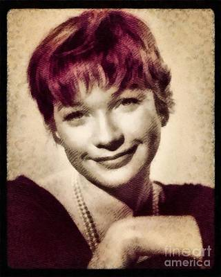 Shirley Painting - Shirley Maclaine, Hollywood Actress By John Springfield by John Springfield