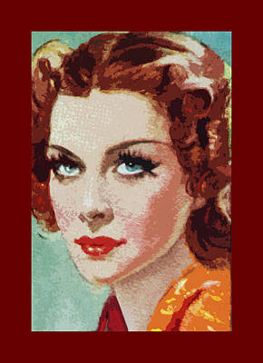 Shirley Ross Art Print by James Hill