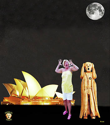 Petra Mixed Media - Shirley Screams At The Sydney Opera House by Eric Kempson
